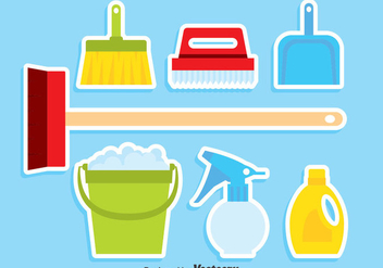Spring Cleaning Set Vector - Kostenloses vector #383909