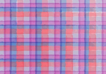 Free Vector Watercolor Plaid Background - Free vector #383969