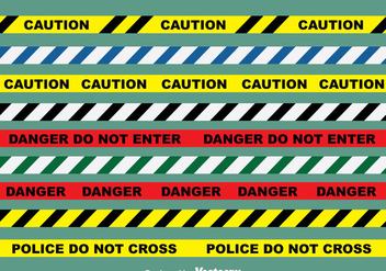 Danger Line Vector Set - Kostenloses vector #383979