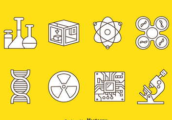 Technology And Science Icons Vector - Free vector #384009