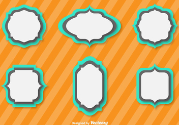 Simple Vector Flat Cartouches For Badges - Kostenloses vector #384019