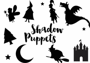 Shadow Puppet Silhouette Icon Set - Free vector #384129