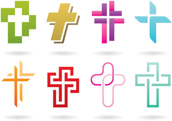Cross Logos - vector #384149 gratis