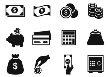 Free Money Icons Vector - vector gratuit #384159