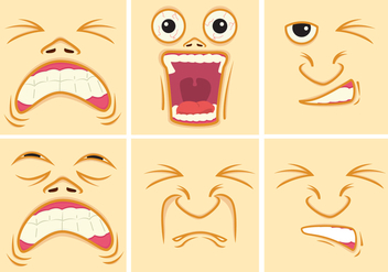 Pain Expression Faces - Free vector #384169