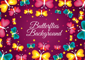 Butterflies Background - vector #384289 gratis