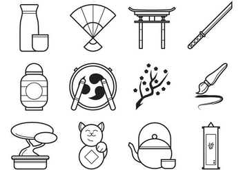 Free Japanese Icon Vector Pack - vector gratuit #384389