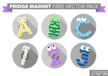 Fridge Magnet Free Vector Pack - vector gratuit #384479