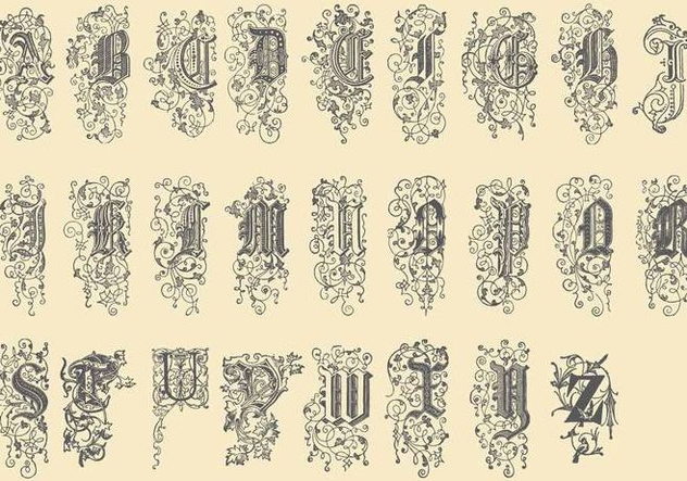 Ornamental Type - vector gratuit #384619