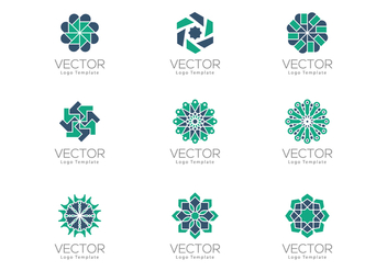 Free Geometrical Arabesque Ornamental Logo Templates - vector #384669 gratis