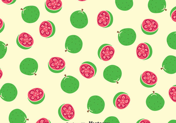 Guava Fruits Pattern - vector gratuit #384679
