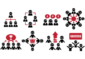 Working together icons - vector #384709 gratis