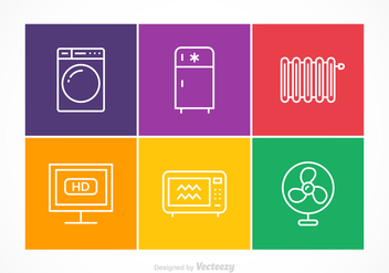 Free Vector Appliances Stroke Icons - vector gratuit #384739