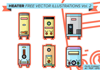 Heater Free Vector Illustrations Vol. 2 - бесплатный vector #384769
