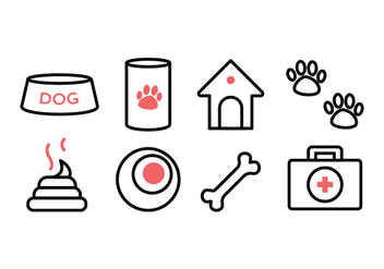 Free Dog Icon Set - vector gratuit #384799