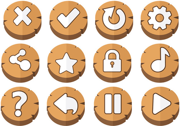 Free Arcade Button Icons Vector - vector gratuit #384829