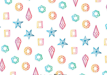 Colorful Gems Pattern Background - vector #384849 gratis