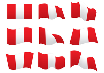 Peru Flag Vector Shapes - vector gratuit #384949