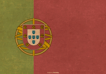 Grunge Flag of Portugal - бесплатный vector #384979