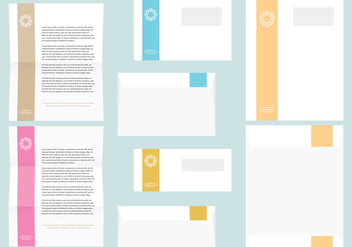 Colorful Letter And Envelope Templates - бесплатный vector #384999