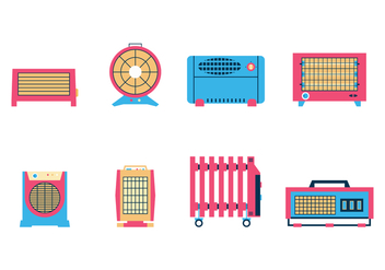 Free Room Heater Vector - Free vector #385009