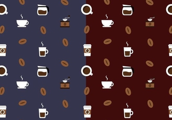 Free Coffee Pattern Vector - vector gratuit #385319