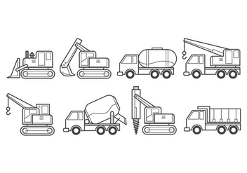 Free Construction Vehicle Vector - Kostenloses vector #385329