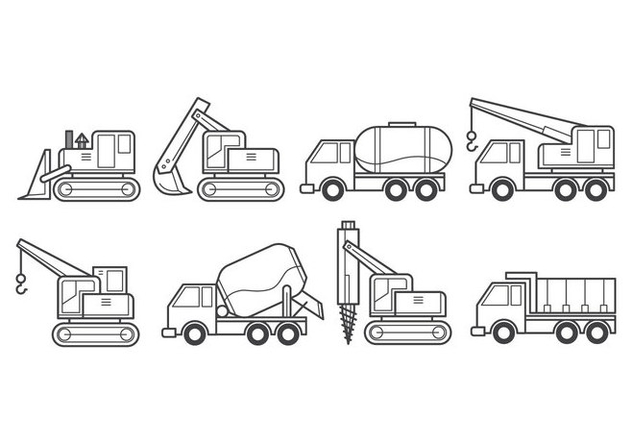Free Construction Vehicle Vector - vector gratuit #385329