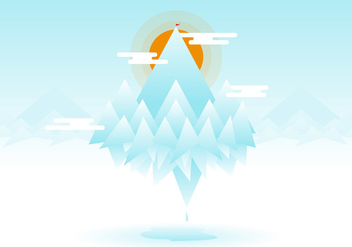 Everest Flat Illustration Vector - Kostenloses vector #385369