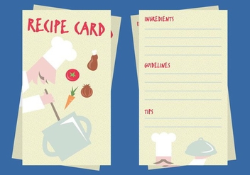 Recipe Card Illustration Vector - Kostenloses vector #385379
