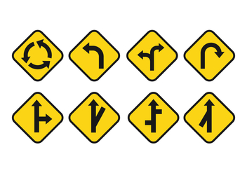 Free Road Signs Vector Set - vector gratuit #385389
