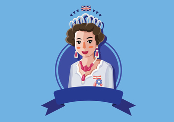 Queen Elizabeth illustration - Free vector #385469