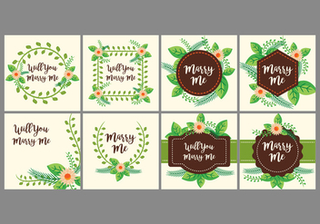 Free Marry Me Card Design Vector - бесплатный vector #385489
