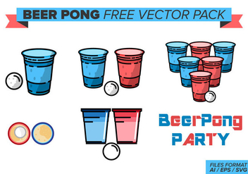 Beer Pong Free Vector Pack - бесплатный vector #385519
