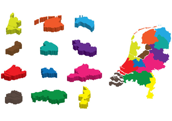 3D Netherland Map - Kostenloses vector #385529
