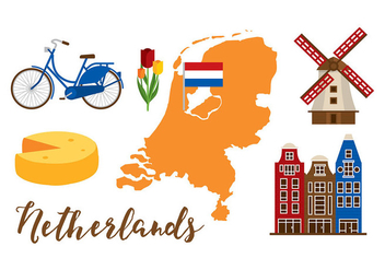 Netherlands Map Set - vector #385629 gratis
