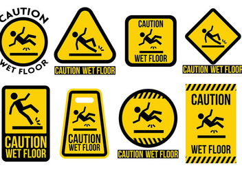 Free Wet Floor Icons Vector - vector gratuit #385639