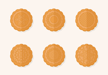 Traditional Mooncake Vector Set - vector gratuit #385649