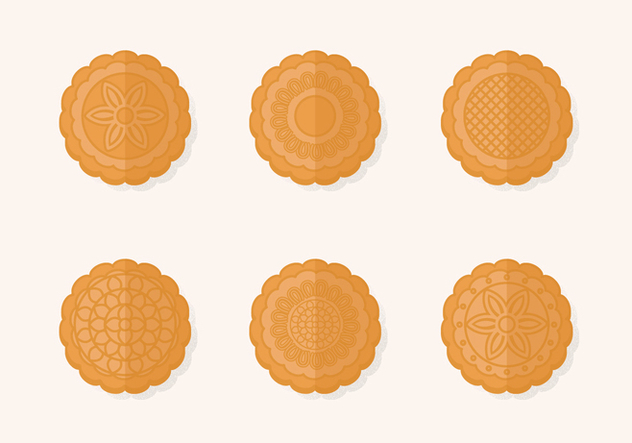 Traditional Mooncake Vector Set - Free vector #385649