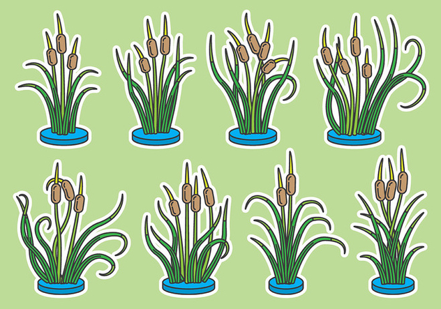 Cattails Vector Icons - Kostenloses vector #385789