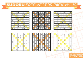 Sudoku Free Vector Pack Vol. 10 - бесплатный vector #385969