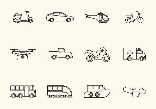 Free Vehicle Vector Icon - vector gratuit #385979