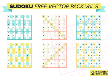 Sudoku Free Vector Pack Vol. 9 - бесплатный vector #386009