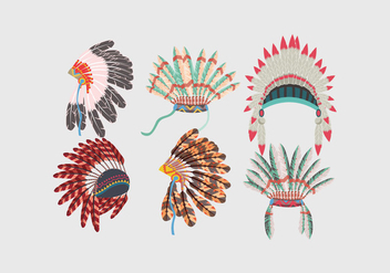 Indian Headdress Vector - бесплатный vector #386069