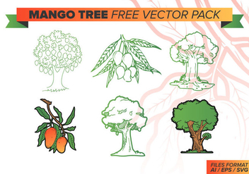 Mango Tree Free Vector Pack - Kostenloses vector #386119