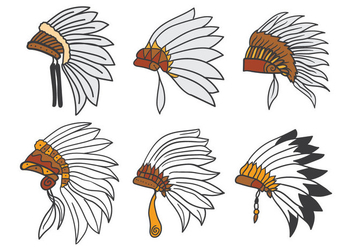 Indian Headdress Vector - бесплатный vector #386249