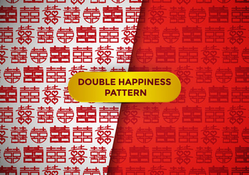 Double Happiness Pattern Vector - vector gratuit #386259
