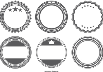 Blank Vector Badge Shapes - Free vector #386269