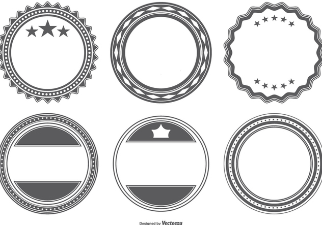 Blank Vector Badge Shapes Free Vector Download 386269 | CannyPic
