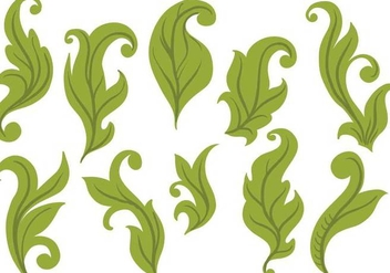 Free Leaves Vectors - vector #386309 gratis